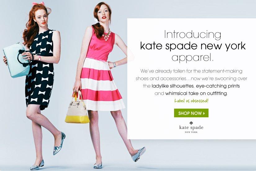 Introducing kate spade new york apparel. SHOP NOW.