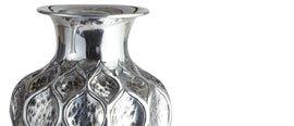 Hand-Embossed Aluminum Vases
