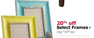 20% off Select Frames