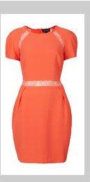 Lace Insert Shift Dress