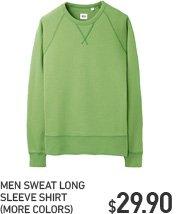 MEN SWEAT LONG SLEEVE SHIRT