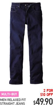 MEN RELAXED FIT STRAIGHT JEANS