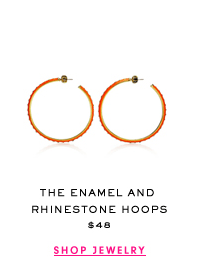 The Enamel and Rhinestone Hoops $48