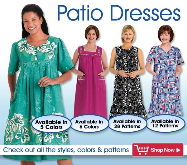 Patio Dresses - Check out all the styles, colors & patterns - > Shop Now!
