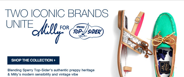 MILLY FOR SPERRY TOP-SIDER | SHOP THE COLLECTION