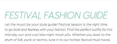 Festival Fashion Guide