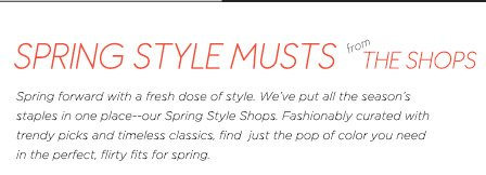Spring Style Musts from The Shops