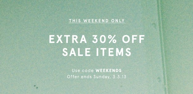 Extra 30% Off All Sale Items