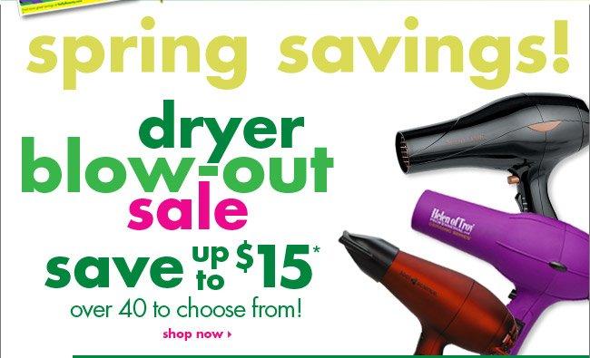 spring savings!