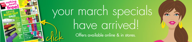 your march specials have arrived!