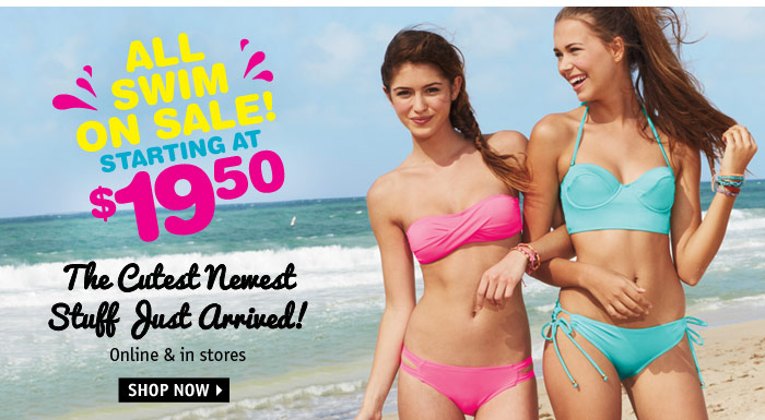 ALL SWIM ON SALE! STARTING AT  $19.50