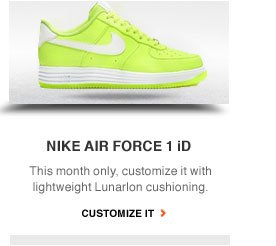 NIKE AIR FORCE 1 iD | This month only, customize it with lightweight Lunarlon cushioning