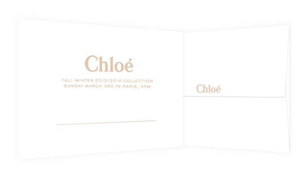 Fall-Winter 2013/2014 Runway: Live this Sunday at 4pm on chloe.com