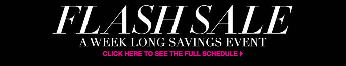 Flash Sale: A Week Long Savings Event
