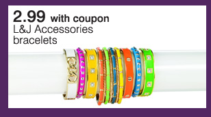 2.99 with coupon L&J Accessories braclets.