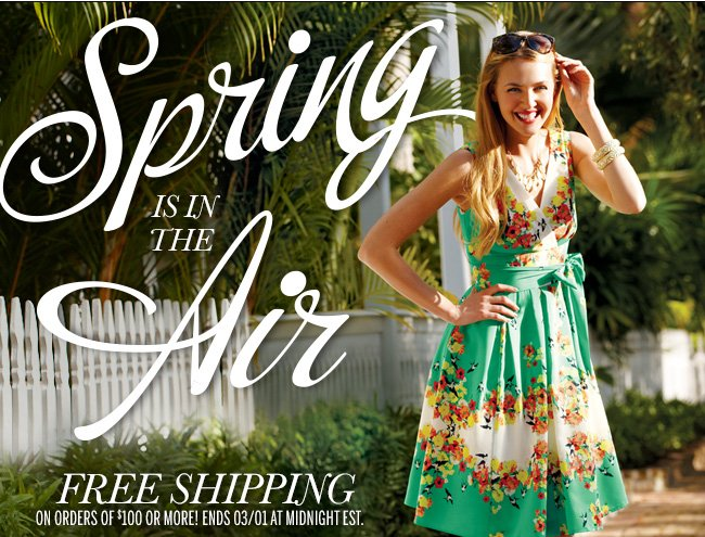 Spring is in the Air! FREE SHIPPING on orders of $100 or more! Ends 3/1 at Midnight EST.