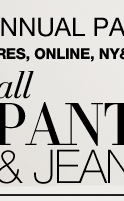 Semi Annual Pant Event! All pants, jeans and skirts are buy one, get one FREE!
