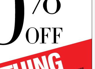 For a limited time only 40% off Everything