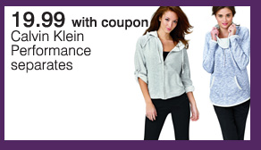 19.99 with coupon Calvin Klein  Performance separates.