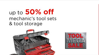 up to 50% off  mechanic's tool sets & tool storage