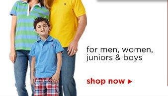 for men, women, juniors & boys | shop now