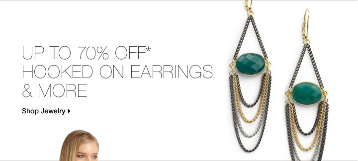 Up to 70% Off* Hooked On Earrings & More