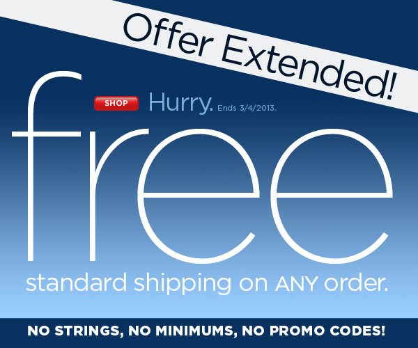 FREE Shipping, ANY Order