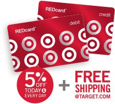 5% OFF TODAY & EVERY DAY + FREE SHIPPING @TARGET.COM