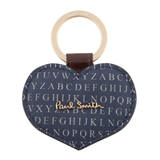 Paul Smith Keyrings - Love Alphabet Print Heart Keyring
