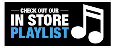 Buy Our In-Store Playlist!