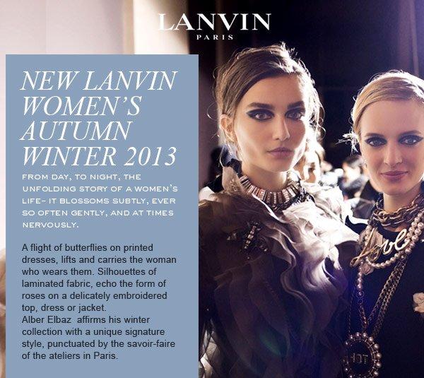 LANVIN AUTUMN WINTER 2013