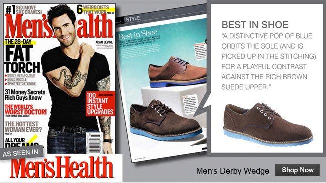 Men's Derby Wedge As Seen in Men's Health