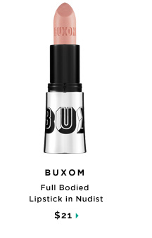 Buxom Full Bodied Lipstick in Nudist, $21