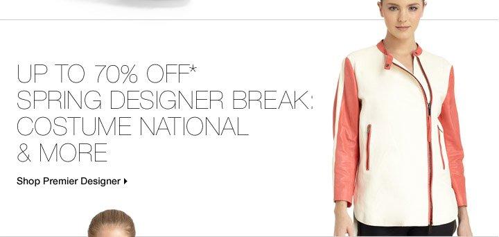Up to 70% Off* Spring Designer Break: Costume National & More