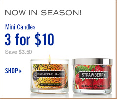 Mini Candles - 3 for $10