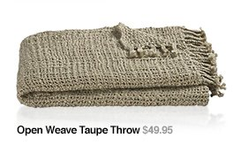 Open Weave Taupe Throw $49.95