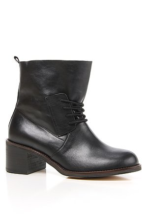 The Black Leather Lace Up Boot