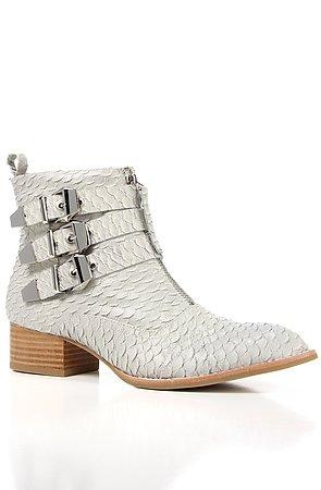 The Allman Shoe in Light Grey Snake