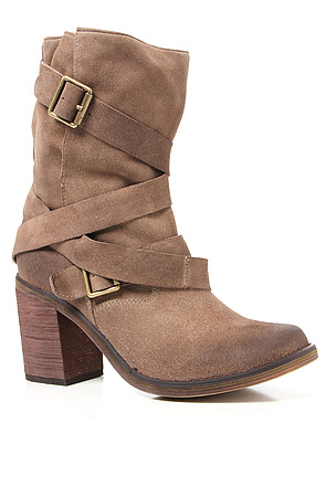 The France II Boot in Taupe Suede