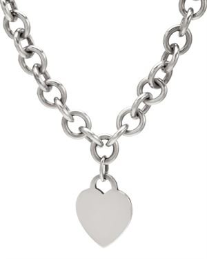 Tiffany & CO. Sterling Silver Heart Tag Necklace $259