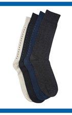 Harbor Bay® Patterned Extra-Wide Socks