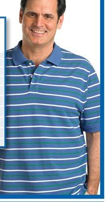 Harbor Bay® Alternate Stripe Polo