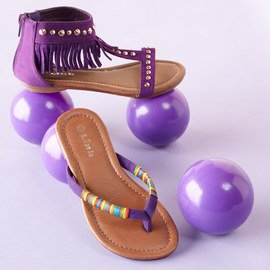 Walk in Purple: Girls' Shoes