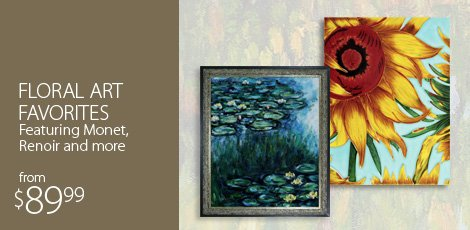 Floral Art Favorites Featuring Monet, Renoir and more