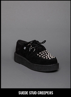 SUEDE STUDD CREEPERS