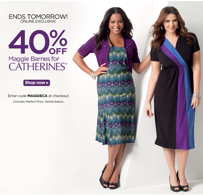 40% off Maggie Barnes for Catherines!