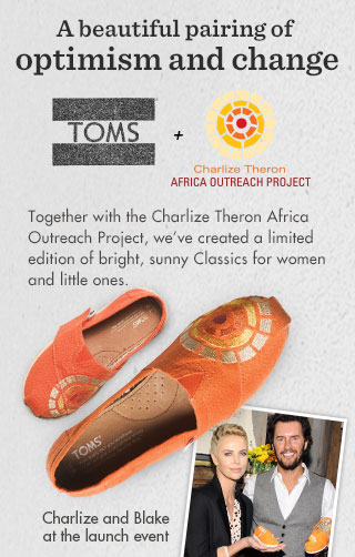 TOMS + CTAOP - A beautiful pairing of optimism and change