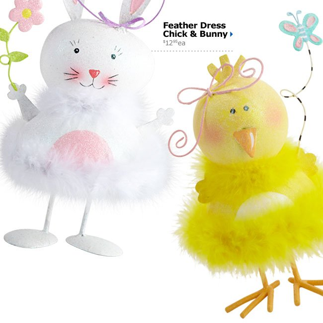 Feather Dress Chick & Bunny