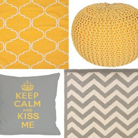 Gray & Yellow: Textiles