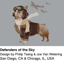 Defenders of the Sky - Design by Philip Tseng & Joe Van Wetering, San Diego, CA & Chicago, IL, USA